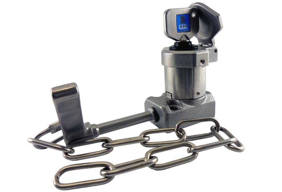 Interblocaj cu mâner (cu lanț) HS-C din oțel inoxidabil 316