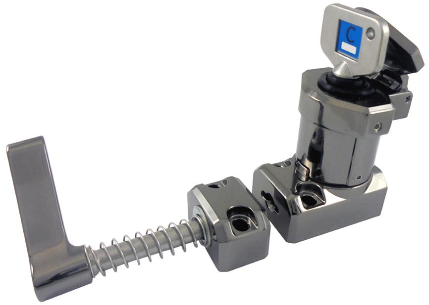 Interblocaj cu mâner (metal turnat sub presiune, lustruit oglindă) M-HS