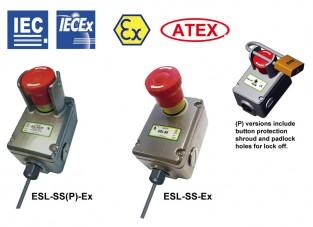 ESL-SS-Ex & ESL-SS(P)-Comutatoare cu oprire de urgență cu protecție anti-explozivă