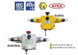 GLHD-Ex & GLHD-SS-Ex Comutator de siguranță cu coardă de tracțiune