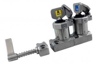HD-11 Interblocaj cu mâner, cu 2 chei din oțel inoxidabil 316