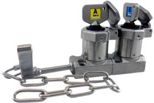 Interblocaj  cu mâner (cu lanț), cu două chei din oțel inoxidabil 316 HD-C-11