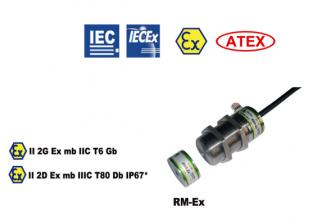 RM-Ex comutator de siguranță fără contact cu protecție anti-explozivă cilindric