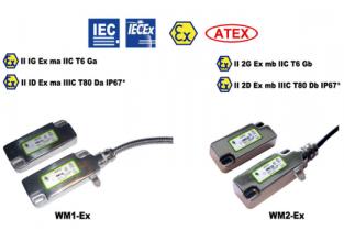 WM1-Ex WM2-Ex comutatoare fără contact cu protecție anti-explozivă